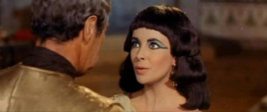 "Rex Harrison and Elizabeth Taylor in 1963's ""Cleopatra"""